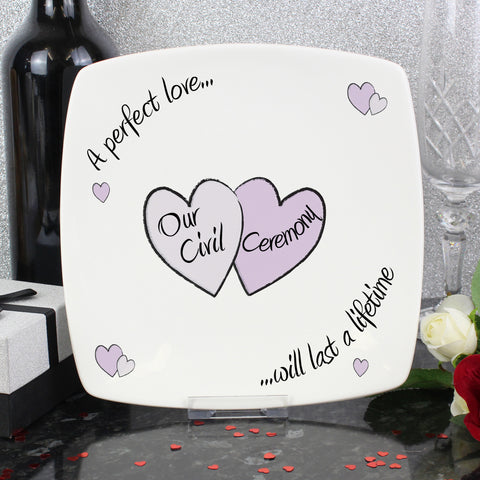 Perfect Love Civil Ceremony Plate Gift