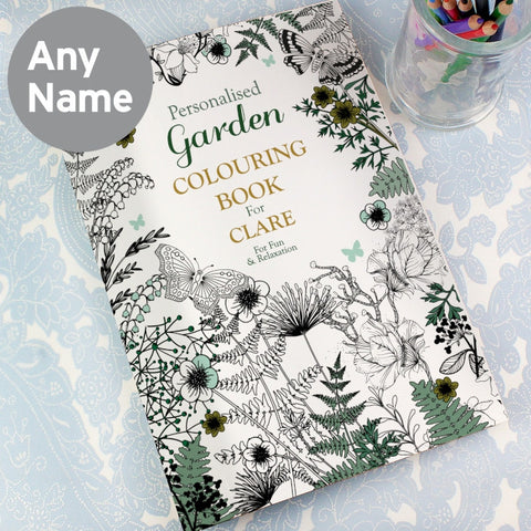 Personalised Garden Adult Colouring Book