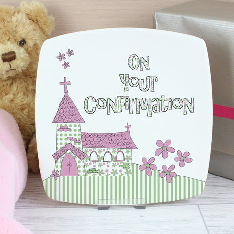 Pink Confirmation Church Plate Present