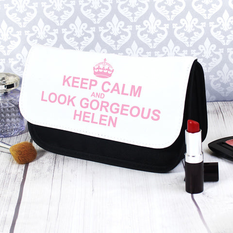 Personalised Keep Calm Cosmetic Bag