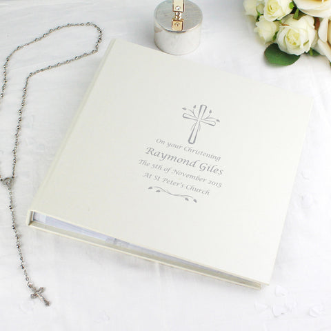 Personalised Silver Cross Photo Album