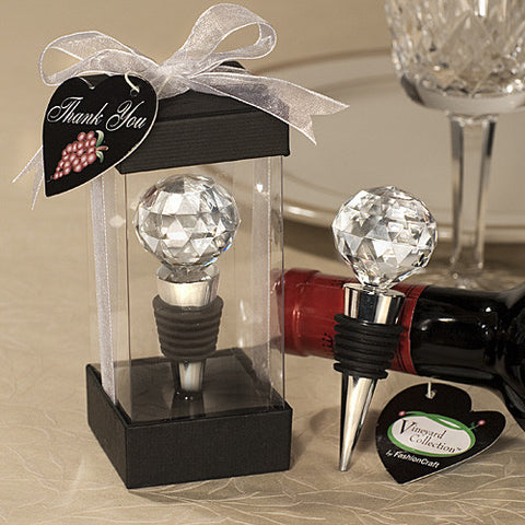 Crystal Ball Wine Bottle Stopper Favour