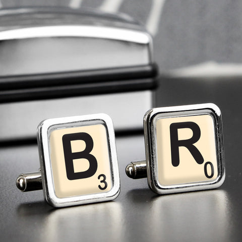 Personalised Initials and Age Cufflinks