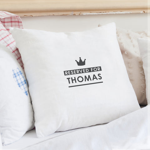 Personalised Reserved For Cushion Cover