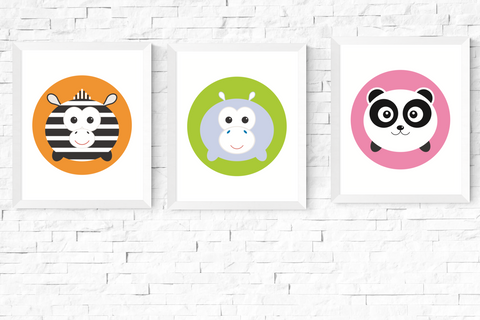 Copy of Cute Kawaii Wild Animal Printables Set of 3