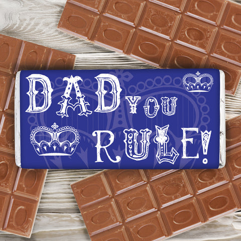 Personalised Dad You Rule Chocolate Bar Gift