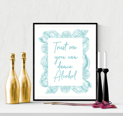 You Can Dance Wedding Sign Printable Beach Themed