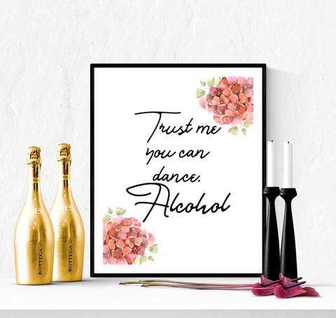 You Can Dance Wedding Sign Printable Floral