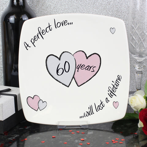 Perfect Love Diamond Anniversary Plate Gift