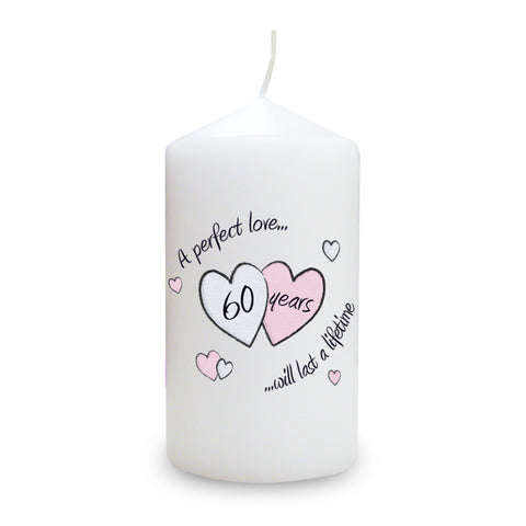 Perfect Love Diamond Wedding Anniversary Candle Gift