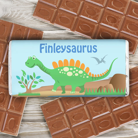 Personalised Dinosaur Chocolate Bar Gift