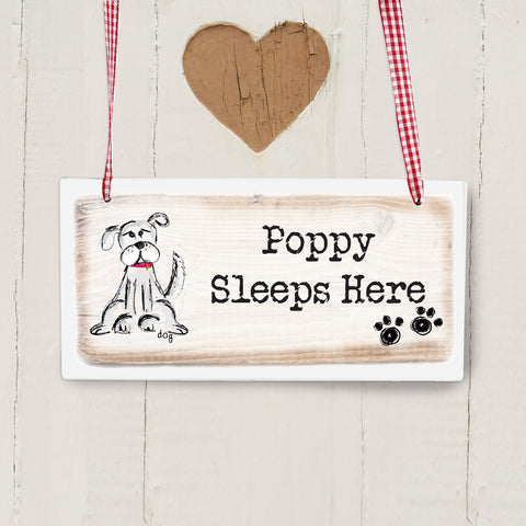 Personalised Dog Wooden Sign Gift
