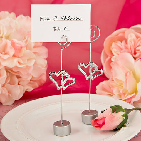 Double Heart Place Card Holders 6PK