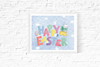 Happy Easter Printable Cute Bunny Design