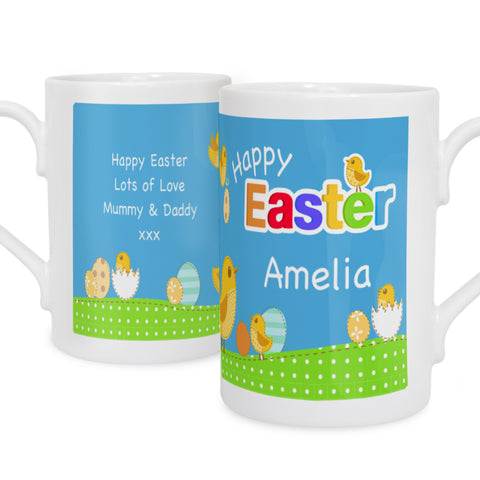 Personalised Easter Chick Mug with Easter Egg Present