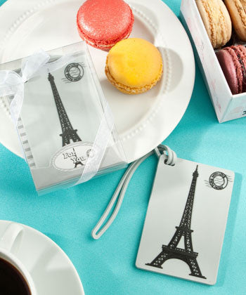 Eiffel Tower Luggage Tag Favours