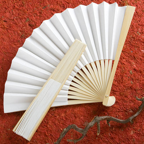 Elegant White Fan Favour 6PK