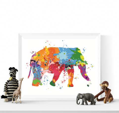 Colourful Elephant Art Printable