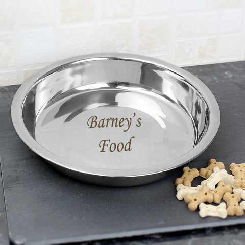 Personalised Engraved Pet Bowl Gift