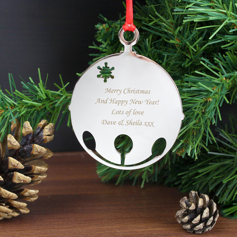 Personalised Bauble Tree Decoration Gift