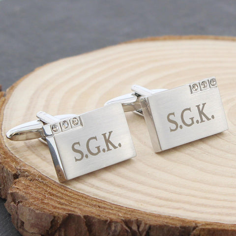 Personalised Diamante Cufflinks Gift