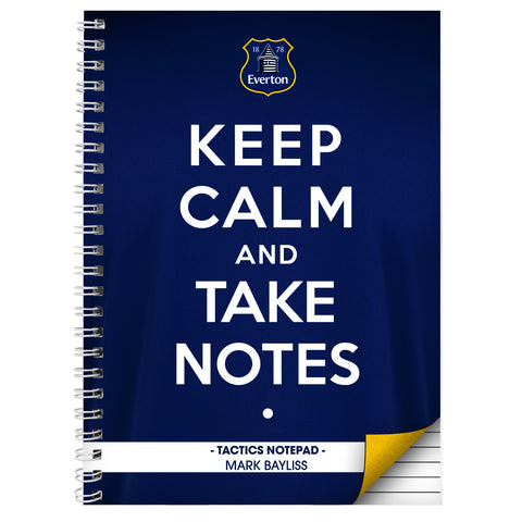 Personalised Everton Keep Calm A4 Notebook Gift