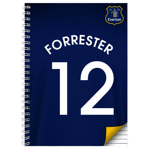 Personalised Everton A4 Notebook Gift