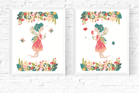 Garden Fairy Wall Art Printables Set of 2