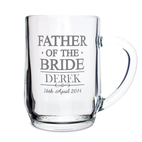 Personalised Mr and Mrs Father of the Bride Tankard Present