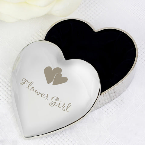 Flower Girl Heart Trinket Box Gift