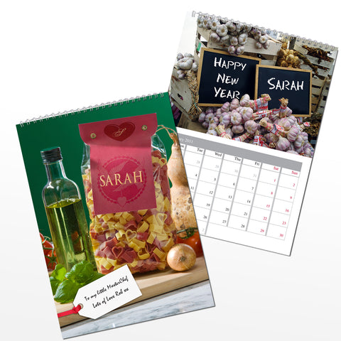 Personalised Food Calendar Present