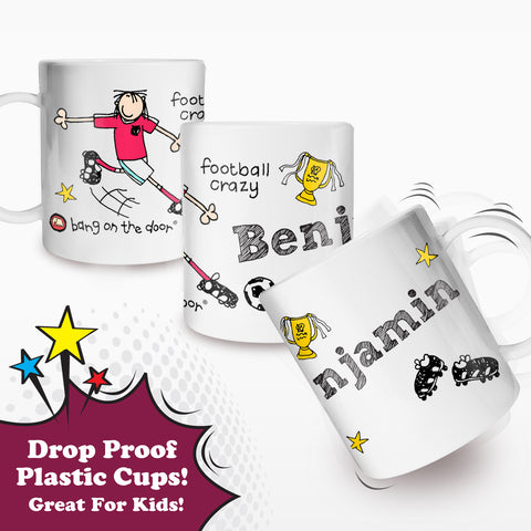 Personalised Football Crazy Plastic Cup Gift