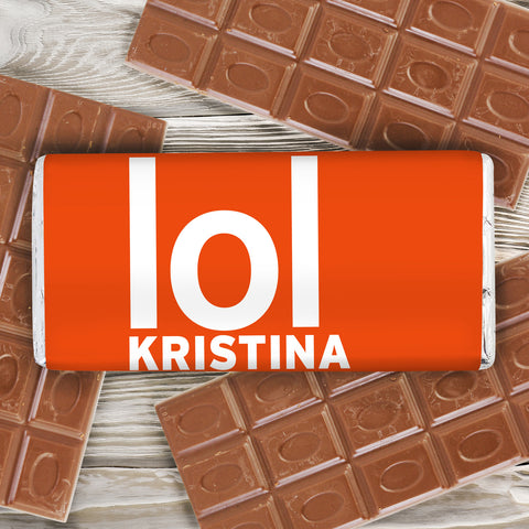 Personalised Lol Slogan Chocolate Bar Gift