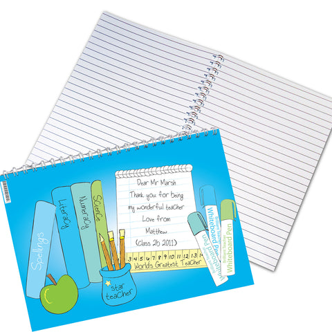 Personalised Male Teacher Notebook