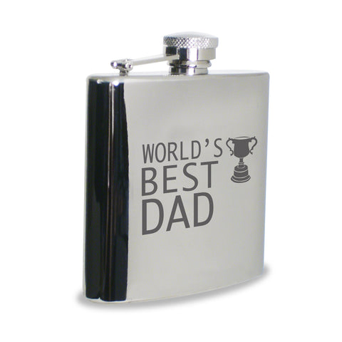 World's Best Dad Hip Flask Gift