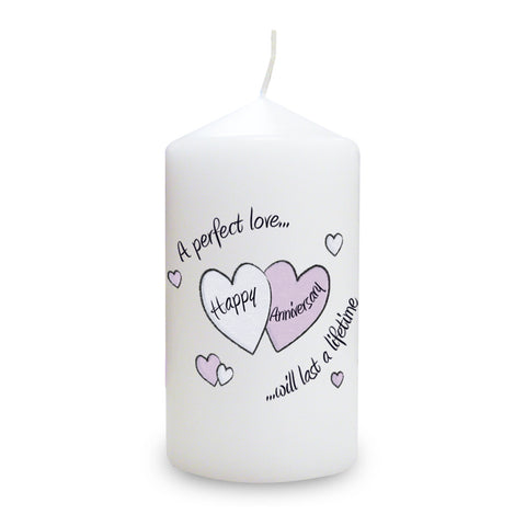 Perfect Love Anniversary Candle Gift