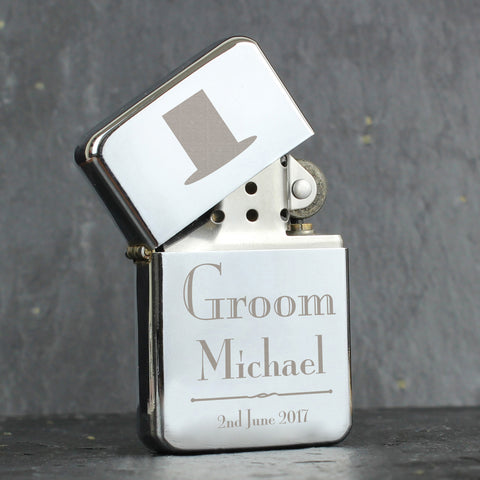 Personalised Decorative Wedding Groom Lighter Gift