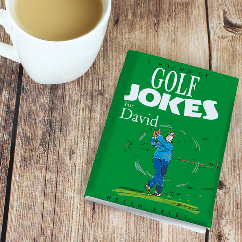 Personalised Golf Jokes Book Gift