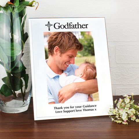Personalised Mirrored Godfather Glass Photo Frame