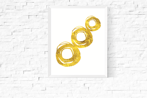 Around and Around Art Printable Gold