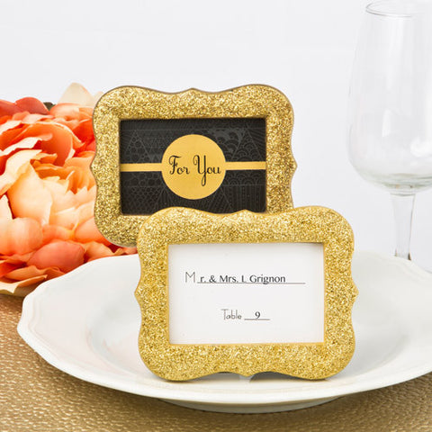 Gold Glitter Photo Frame Favours 6PK