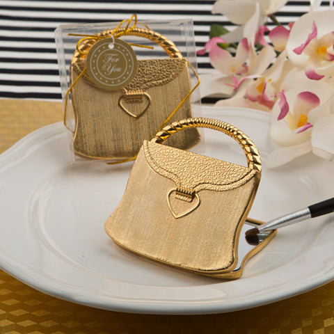 Gold Handbag Compact Mirror Favour 6PK