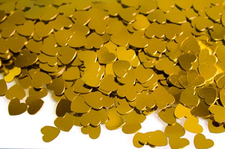 Gold Heart Table Sprinkles