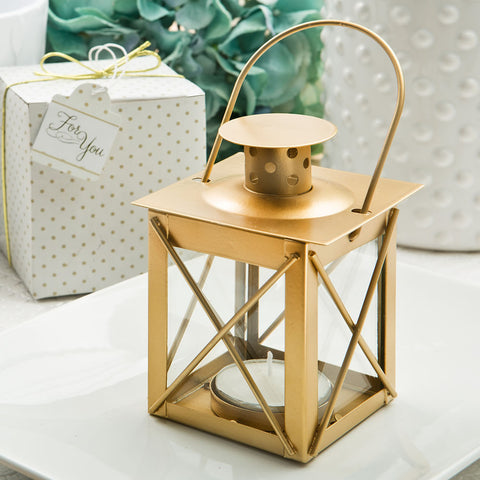 Gold Lantern Wedding Favours