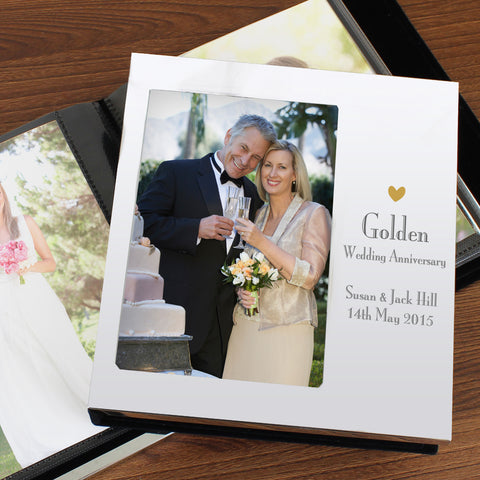 Personalised Golden Anniversary Photo Album