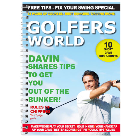 Personalised Golfers World A5 Notebook Gift