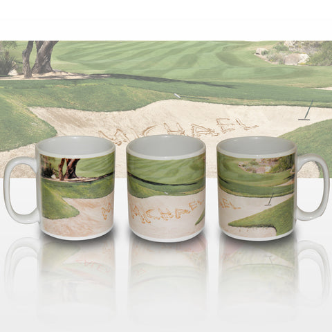 Personalised Golf Bunker Mug Present