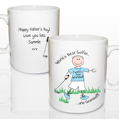 Personalised World's Best Golfer Mug Gift