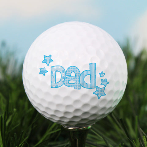 Personalised Dad Golf Ball Present