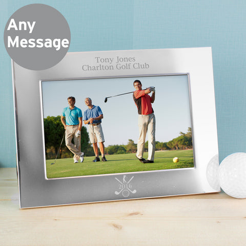Personalised Silver Golf Photo Frame Landscape